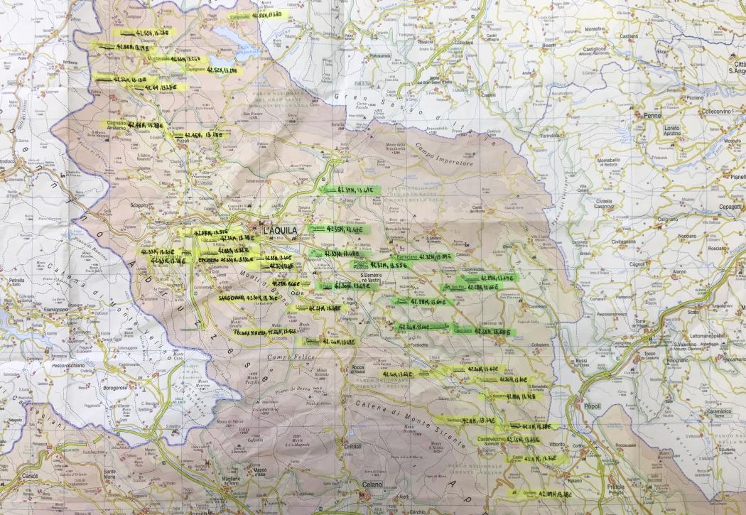 Mappa utilizzata per l'indagine fotografica [i]Map used for photographic project/i]